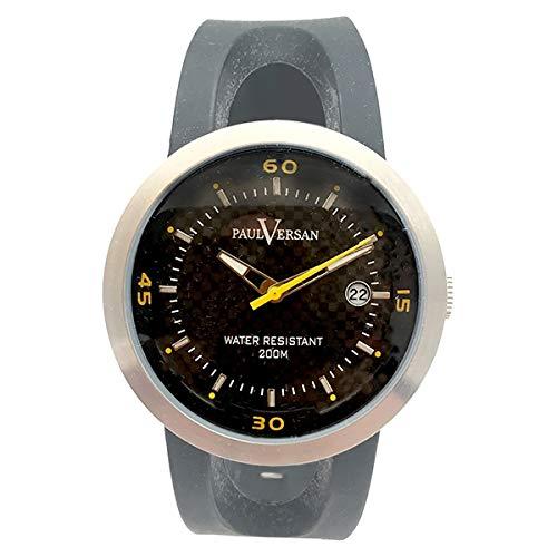 Paul Versan Reloj Análogo clásico para Hombre de Cuarzo con Correa en Caucho PV10204