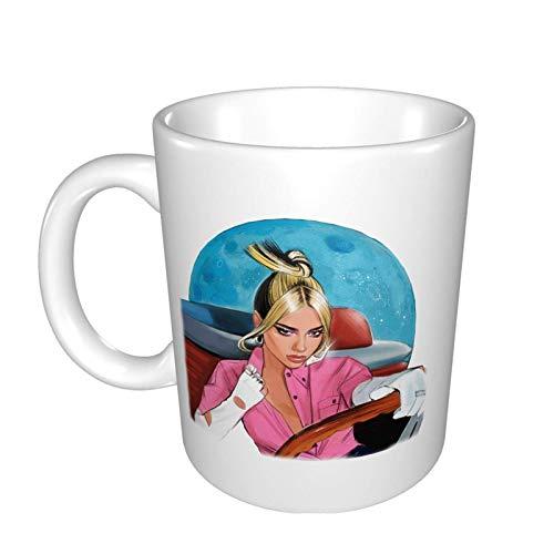 N\A Dua Lipa Future Nostalgia Mug Mark Cup Mug Taza de café Taza de té Tazas de Vino Fit Office Home Travel Tazas de cerámica
