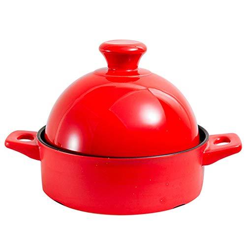 Marokkaanse Taji Pot Rode Huishoudelijke Keramische Braadpan Hoge Temperatuur Klem Rijst Smolderen Multi-Functie Kleine Pot Open Vuur