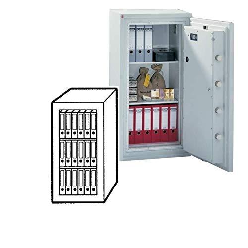 Sistec Wertschutzschrank SE 5 120/0, Elektronisches Tastenschloss SECU SELO B + Mechanisches Zahlenkombinationsschloss, Grad 5 nach EN 1143-1, H120xB62xT58 cm, 830 kg