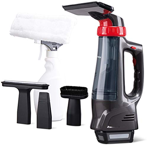 THOMSON Akku Handstaubsauger mit 4 Aufsätzen (Nass & Trocken) - Akkusauger Handstaubsauger (7,2 Volt Kapazität & schnelle Ladung), kabelloser Staubsauger, auch für das Auto oder Fenster