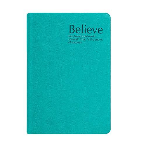 Cuaderno de Tapa Dura Engrosada, Elegante memo de Tela de Cuero de PU, Notas Ideales, Memoria, Diario (300 Fotos) (Color : Blue-A6, tamaño : 1PACK)