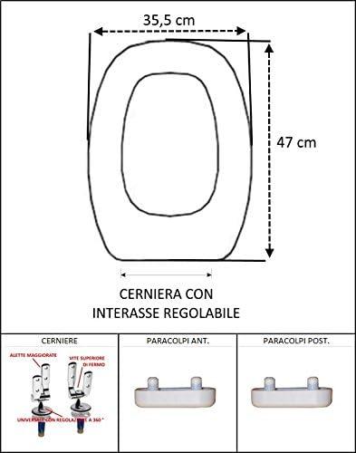 Copriwater Sedile Wc Per Pozzi Ginori Easy Easy 2 Quinta Citterio Bianco Coprivaso Poliestere Alta Qualita Amazon It Fai Da Te