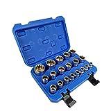 YASE-king 19 piezas 1/2 Square Drive Gear Lock 12 de dientes múltiples Spline Socket Wrench Set 8-32mm enchufe universal