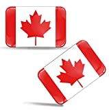 Biomar Labs® 2 x Aufkleber 3D Gel Silikon Stickers Kanada Kanadische Flagge Canada Fahne Flag Auto Motorrad Fahrrad Fenster Tür PC Handy Tablet Laptop F 40