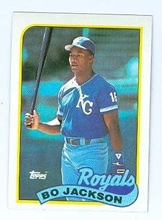 Bo Jackson baseball card (Kansas City Royals Bo Knows) 1989 Topps #540