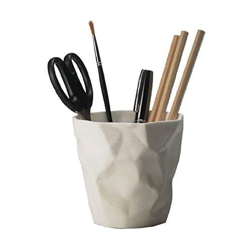 Essey Pen Stiftehalter, Schreibtisch-Organizer, hochdichtes Polyethylen, weiß