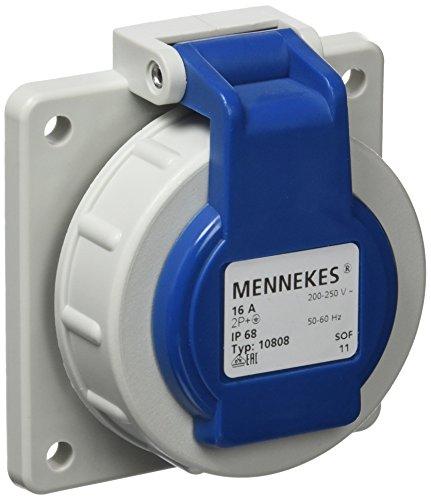 Mennekes 101700011 Schuko-Steckereinbau 16 A / 230 V, Steckdosen, IP 68 Schutzart, Blau