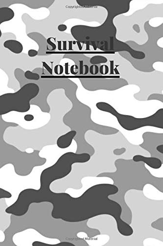Survival Notebook: 6x9 a5 100 page survival logboook lined journal notebook diary book ruled log book inventory book ammo log camo nature knife ... cheap value deal novelty gift funny a5