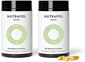Nutrafol Women Hair Growth Supplement For Thicker, Stronger Hair (4 Capsules Per Day - 2 Bottles- 2 Month Supply)