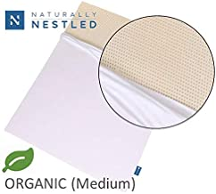 Certified Organic 100% Natural Latex Mattress Topper - Medium - 2 Inch - Twin Size - Organic Cover Included.