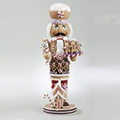 Wooden Gingerbread Christmas Nutcracker Size 16-Inch