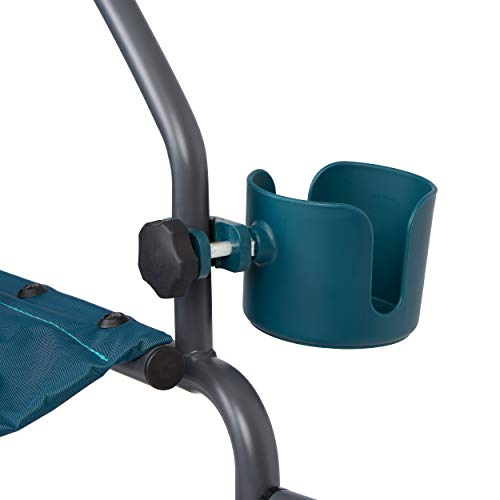 Medline Universal Cup Holder for Rollator Walkers, Transport Chairs, and Wheelchairs, Teal