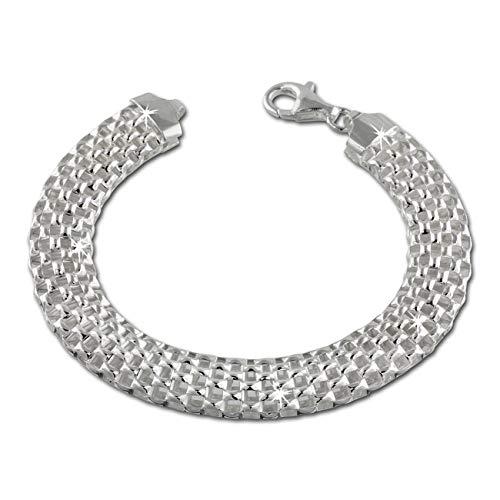 SilberDream Armschmuck 20cm Silber Armband Geflecht Damen Silber SDA2010J