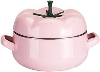 SCSBJ Mini Cocotte Redonda Olla CeráMica con Tapa Marcas de GraduacióN en El Interior para El en Cualquier Cocina para Todo Tipo de Fuegos Verduras Carnes,A