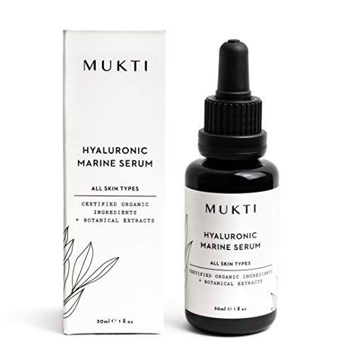 MUKTI - Organic Hyaluronic Marine Serum | Clean, Non-Toxic, Natural Skincare (1 fl oz | 30 ml)