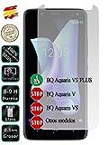 Movilrey Protector para BQ Aquaris VS Plus Cristal Templado de Pantalla Vidrio 9H para movil