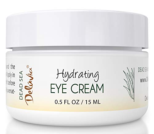 Eye Cream Moisturizer, Under Eye and Around Eye Hydrating Eye Cream, Organic Aloe Vera, Vitamin E, Rosehip Seed Oil for Dry Skin and Wrinkles.(.5 Oz) Skin Care by Deluvia