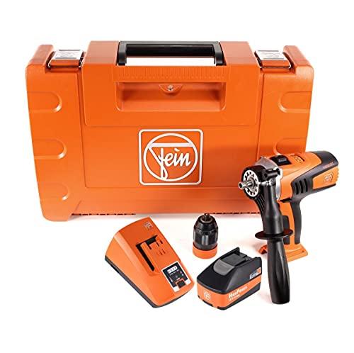 FEIN ASCM 18 QM 71161164000 - Taladro atornillador inalámbrico (4 marchas, 18 V, 90 Nm, incluye maletín, batería de alta potencia de 5,2 Ah y cargador)