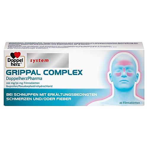 GRIPPAL COMPLEX DoppelherzPharma 200 mg/30 mg Filmtabletten – Bei Schnupfen mit erkältungsbedingten Schmerzen und/oder Fieber – 20 Filmtabletten