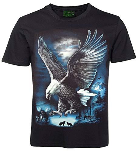 Tiermotiv T-Shirt Adler in den Bergen Größe XXL