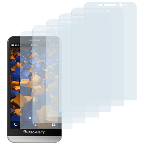 mumbi Schutzfolie kompatibel mit Blackberry Z30 Folie klar, Bildschirmschutzfolie (6x)
