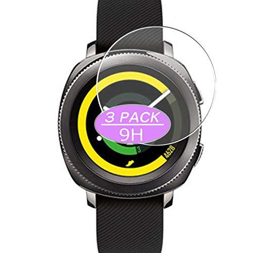 VacFun 3 Piezas Vidrio Templado Protector de Pantalla, compatible con Samsung Gear Sport, 9H Cristal Screen Protector Protectora Reloj Inteligente NEW Version