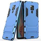 Funda para Huawei Mate 20X (7,2 Pulgadas) 2 en 1 Híbrida Rugged Armor Case Choque Absorción Protección Dual Layer Bumper Carcasa con Pata de Cabra (Azul)