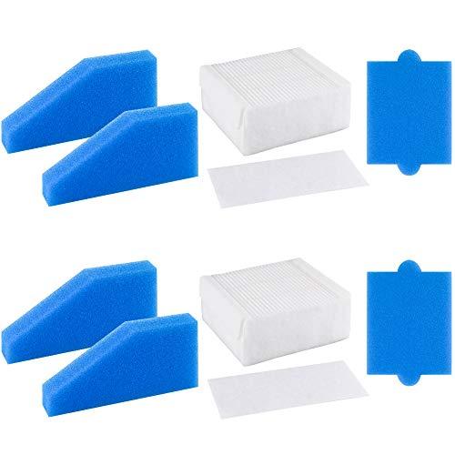 FHzytg 2 Stück HEPA Filter Staubsaugerfilter Ersatzfilter Set 5-teilig Zubehör geeignet für Thomas Staubsauger der Baureihe AQUA+, Thomas Filterset 99 (Teile-Nr. 787241)