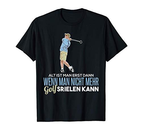 Golfer T-Shirt Rentner Golf Tee Golfschläger Golfball Spruch T-Shirt