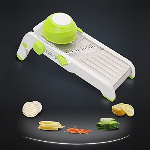 Maihanjiaju Kitchen Mandoline Slicer MultiFunctional Vegetable Grater Mandoline ShredderVegetable slicer Vegetable Lemon and Onion Shredder Safety Hand Protector Adjustable Thickness Kitchen