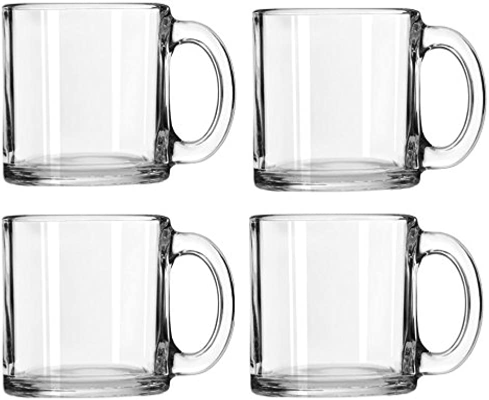 Libbey Crystal Coffee Mug Warm Beverage Mugs Set Of 4 13 Oz