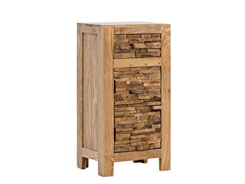 Woodkings Bad Unterschrank Matay Holz Akazie rustikal Badunterschrank massiv Badmöbel Badezimmer Badezimmerunterschrank Badschrank Landhaus Massivholz
