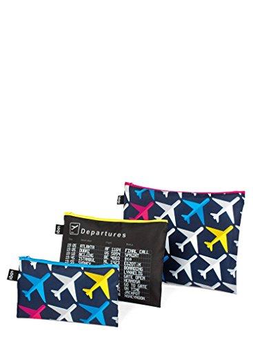 LOQI Artist Airport Airport Zip Pockets Funda de carné, 32 cm, Multicolor (Multicolour)