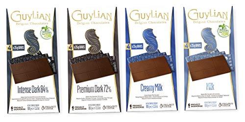 Guylian Schokolade 4er Set - belgische Schokolade - Vollmilchschokolade, Milchschokolade, Zartbitterschokolade 72%, 84% - Schokoladentafel Chocolate Bars - (4x100g)