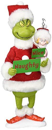"""Department 56 Grinch Naughty or Nice Figurine, 12\"""", Mehrfarbig Figur, Harz, Clothique, Einheitsgröße"""