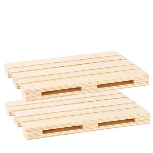 Pack de 2 bandejas de madera estilo mini palet multiusos 24 x 16 x 2 cm , Plato, Fuente, Tabla, ideal para servir tapas, pinchos, catering,tanto para hogar,fiesta,como para hosteleria.