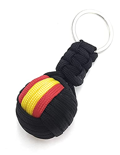 La Flamenca de Borgoña Llavero bola cordón negro Bandera España