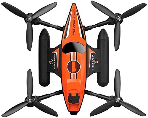 CYLYFFSFC Drone Spaziale Anfibio di Mare, Terra e Aria telecomandato, Mini Aereo acrobatico Giocattolo, Aereo ad Alta velocità Marittimo, terrestre e Aereo, Giocattoli Volanti all'aperto per Bambini,