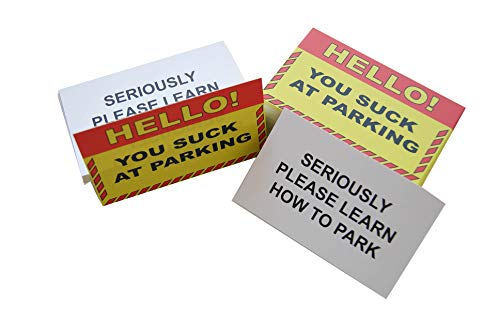 RXBC2011 Bad Parking Cards Gag Gifts for Bad Parking You suck at Parking Business Cards (Pack of 100) Photo #5