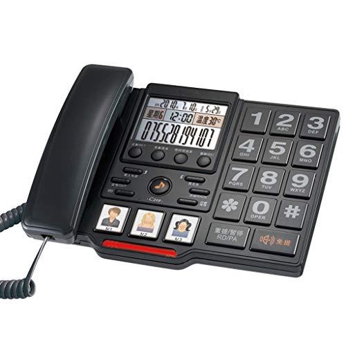 Onbekend vaste telefoon oude vaste telefoon extra grote beltoon grote toetsaanzoek spraakbericht ABS-materiaal