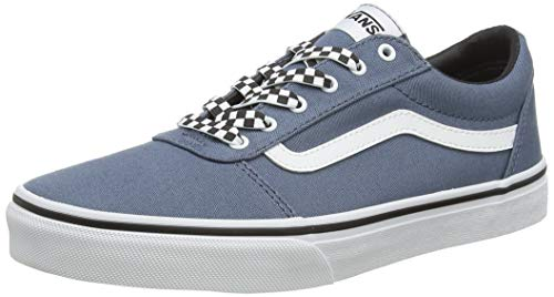 Vans Unisex Kinder Ward Canvas Sneaker, Blau ((Checker Lace) Blue Mirage/White Xxo), 33 EU