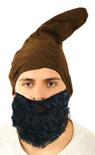 Marco Porta Zwergenmütze Erwachsene Gnom Wichtel Zwergenkostüm Zubehör Kopfbedeckung (Braun)