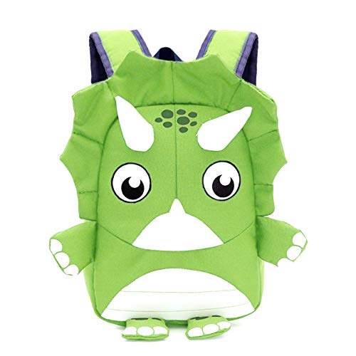 Lekesky Toddler Backpacks with Leash Safety Harness, 3D Dinosaur Backpack Gift School Bag for Little Kids for Preschool, Travel and Daycare, Green