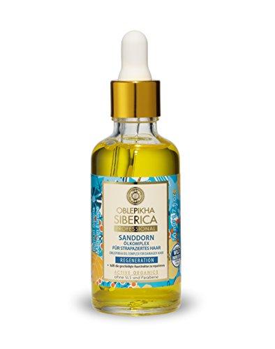 Natura Siberica Sanddorn Ölkomplex für strapaziertes Haar, Regeneration, 1er Pack (1 x 50 ml)