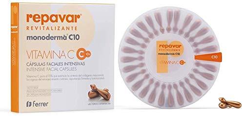 Repavar Revitalizante Monoderma C 10 - Intensivo Tratamiento Antiedad, con 10% de Vitamina C - 28 Cápsulas Monodosis