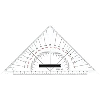 trasparente 22,5 mm Squadra nautica in Plexiglas Aristo