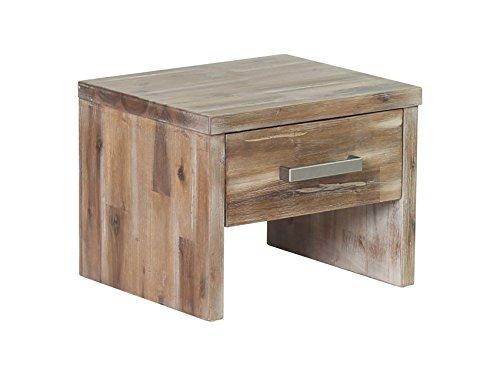 Woodkings Nachttisch Albury Akazie Rustic Schlafzimmer Massivholz Beistelltisch Nachtkommode Design Massive Naturmöbel Echtholzmöbel günstig