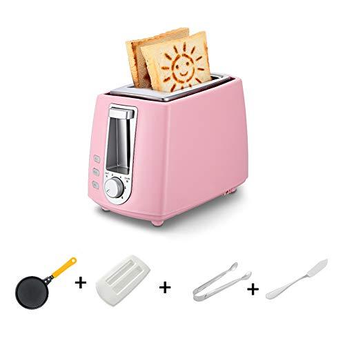 Toast und Ei 2-Scheiben-Toaster, Kompakt-Toaster, 6-stufige Einstellung, Auftaufunktion - 220 V 680 W,Rosa