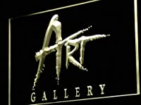 ADVPRO ART Gallery Shop Display Advertising LED看板 ネオンプレート サイン 標識 Yellow 300 x 210mm st4s32-i950-y